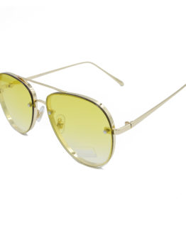 gyalia hlioy unisex aviator gold & yellow